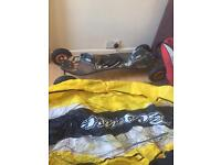 Mountain board and 6 ft power kite/hardly used
