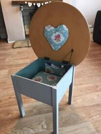 Shabby chic sewing box