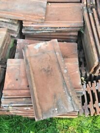 Terracotta roof tiles taken from an old b