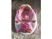 Bright Starts Pink Baby Walker
