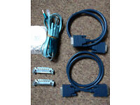 Cisco DCE -> DTE cables / Cisco Console cables / Router Blanking plates