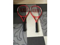 Sell Wilson grand slam xl 2x tennis rackets