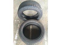 2 x Hankook Icebear W300 tyres 225/45 R17 94 V 8mm tread