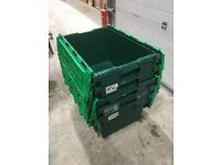 5 x Allibert tote box, plastic storage crates - removal crates