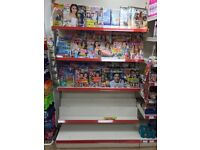 Shop shelving suitable for newspaper and magazine display