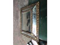 Antique bevel edge fixed mirror