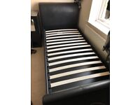 Single Black Ottoman Bed