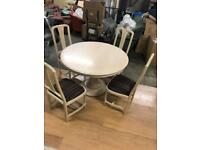 Washed Lime - Extendable Dining table set.