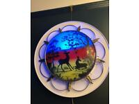 Vintage kitsch round leaf light quirky one off lamp decoration