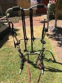 High mount 3 bike cycle rack