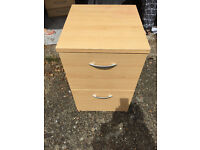 Wooden 2 drawer filing cabinet - any reasonable offer considered