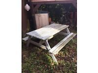 6 seater A frame garden picnic bench