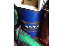 "barrel of Hydraulic oil Morris ""Blue"" colour rare oil JCB CAT FORD NUFFIELD DAVID BROWN KUBOTA CASE"