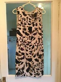 Topshop Uk 14 animal print dress