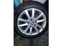 BMW 320 wheels with winter tyres