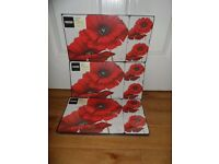 Poppies Placemat and Coaster sets (3 Sets)