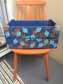 Lovely Painted Large Wooden Kitchen and Garden Patio Crate