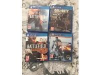 Battlefield 1, battlefield hardline, battlefield 4, call of duty advanced warfare. PS4 game