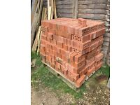 Pallet of class b red engineering bricks. Unused. Buyer to collect