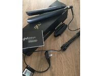 GHD Platinum straighteners brand new in box with Brand new GHD brush