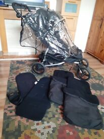 Mountain buggy duet with extras for sale
