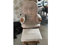 Nursery Rocking chair & matching footstool for sale.