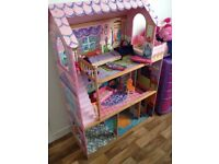 Dolls house with a little furniture