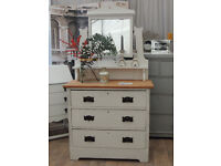 Beautiful shabby chic Victorian dressing table by Eclectivo