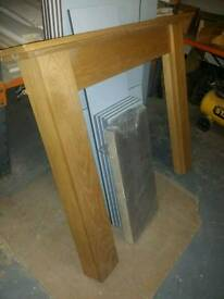 Solid Oak fire place surround