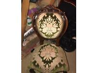 Lovely carved Louis style chairs shabby chic project ( before and after )