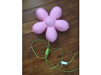IKEA KIDS FLOWER NIGHT LIGHT LAMP WALL MOUNTED PINK