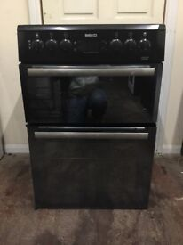 Beko electric cooker BDVC665MK 60cm black double oven 3 months warranty free local delivery!!!!!