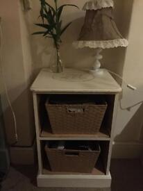 Pine Rustic Shabby Chic drawers two baskets included