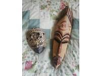 Wooden masks.