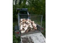 FIREWOOD 2cubic meters clean seasoned split ready to burn all hardwood no rot