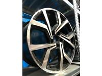 "4 18"" alloy wheels alloys rims tyres to fit seat Skoda Audi vw Volkswagen Golf"