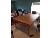 Large pine dining table for sale