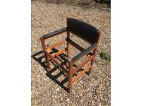 Vintage solid wood office chair leatherette renovation shabby chic project