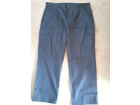 pair work trousers navey blue