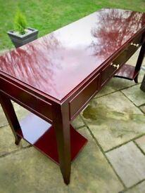 Mahogany Desk - Real solid wood - 1 Drawer
