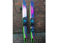 Waterskis. Little used in excellent condition. Also fitted for mono sking