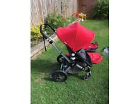 Bugaboo Cameleon, red. Mark 3 chassis new in 2013, the rest of the buggy approx 8 years old