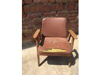 Vintage Polish Style Listening Reading CHAIR Furniture Seat Decor Mid-Century