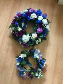 Artificial flower wreaths for weddings