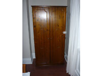 Solid Pine Wardrobe from clean home in need of a new home. Excellent condition, great size, bargain.