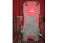 BABY CARRIER RUCKSACK RED BY LITTLE LIFE (NEW)