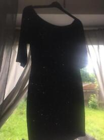 Lovely unworn black glitter dress