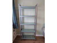Tempered glass shelving unit