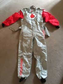 Collectors items Vodafone McLaren Mercedes replica race helmet & race suit