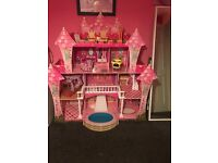 Kids doll house with furniture immaculate condition